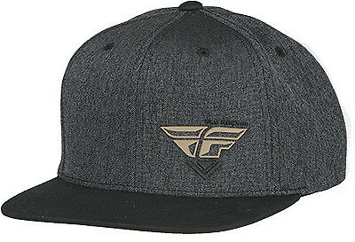 Fly Motocross Casual Choice Hat Black Khaki Flat Brim Snapback Baseball Cap