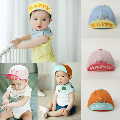Kids Fashion Baseball Cap Unisex Boys Girls Children Baby Baseball Cap HAPPY