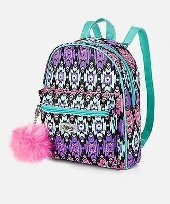 NWT Justice Girls Southwest Sparkle MINI Backpack w/ Pompom!