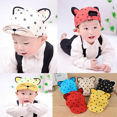 Kids Fashion Baseball Cap Unisex Boys Girls Baby Baseball Cap CUTE Kitty