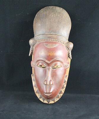 62) Baule alte Maske Afrika / Masque ancien baoulé / Old tribal Mask