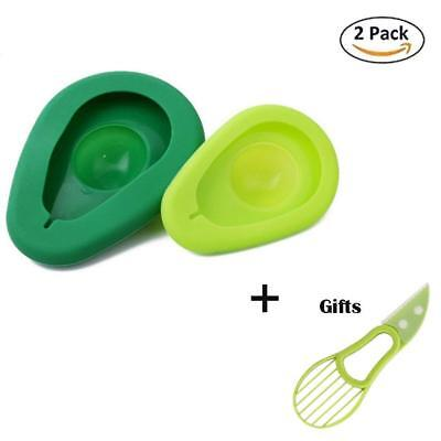 Fresh Avocado Saver & Slicer, Tool, Pitter with 2 Silicone Food Storage Keepers