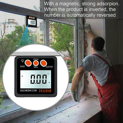 360° Angle Digital Inclinometer Level Box Protractor Finder Bevel Gauge Magnet