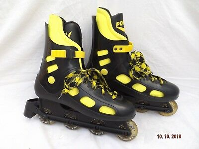 Pony Men's Inline Roller Skates,size 10 Uk, Padded Liners,lace Up With Top Strap