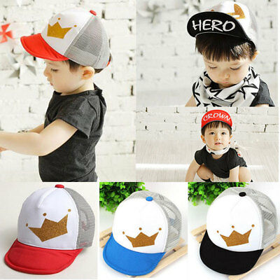Kids Fashion Baseball Cap Unisex Boys Girls Children Baby Baseball Cap Crown