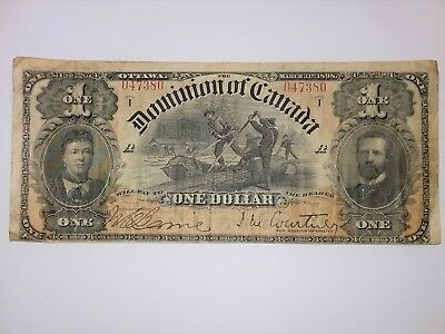 Dominion of Canada Outward One's Series D to K Courtney- $1 1898 Ser 047380