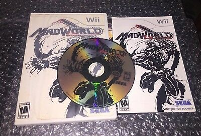 Mad World (Nintendo Wii, 2009) used tested w manual