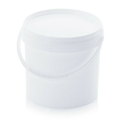Bucket 3,8l round with Lid and Originality Closure 3,8 Litre White 3l 4l 3,5l