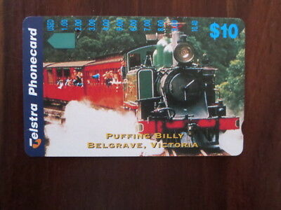 telstra phone card 1x   $10 Puffing Billy Belgrave Victoria single hole