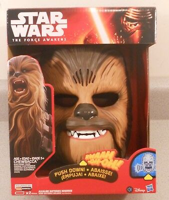 Star Wars The Force Awakens Chewbacca Electronic Talking Mask New