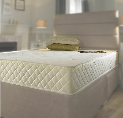 Memory Foam Quilted Spring Mattress Single 3ft, Double 4ft6, King 5ft Mattress