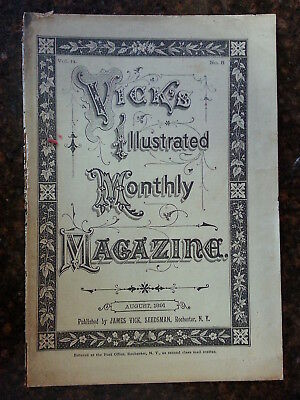 Vick's Illustrated Monthly Magazine, August, 1891