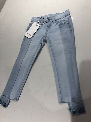 Seed Girls Denim Panel Jeans Size 2 Brand New With Tags