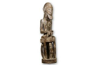 """Hand Carved Dogon Male African Figure 43.5"""" - Mali"""