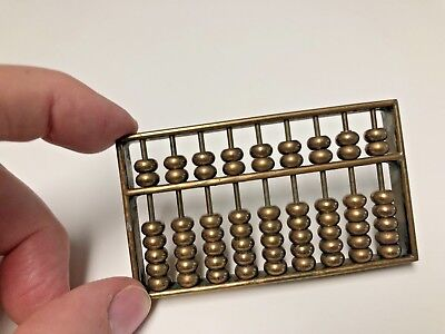 Miniature Sollid Brass ABACUS - Paper Weight