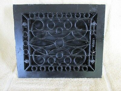 Vintage Heat Grate Vent  Register with louvers, Cast Iron, Old House Salvage