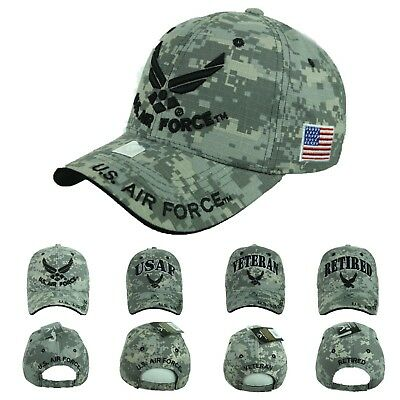 USA AIR Force Baseball Cap US Air Force USAF Veteran Retired Hats CAMO Hat  Caps 598e5de22dd4