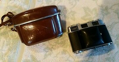 Kodak Retina IIIC C 35mm Rangefinder Camera With Case. Untested