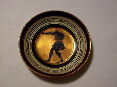 Ancient Greek Archer Saucer Hand Made and Painted