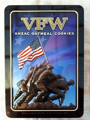 Unibic Anzac Biscuit Tin VFW USA Limited Edition