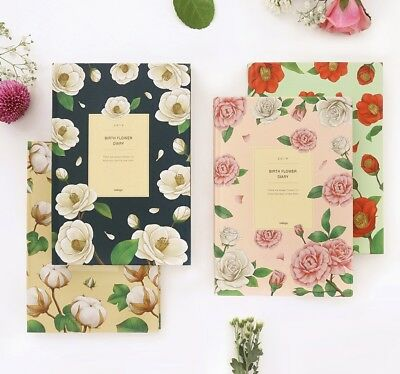 [2019 Birth Flower Diary] Undated Daily Weekly Monthly Journal Planner Calendar