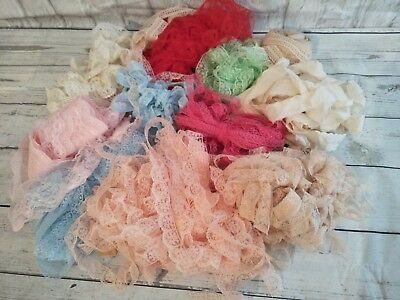 Laces Craft  /  Sewing   Over 100 Mtrs  Huge Lot Trims Dolls Cushions