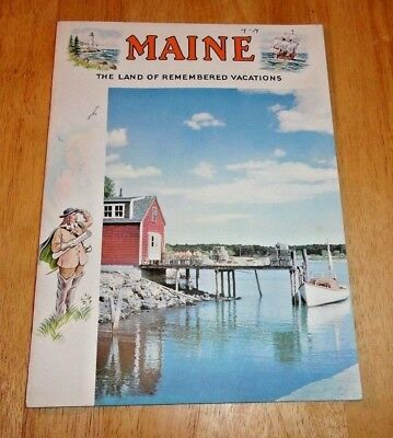 Vintage Maine The Land Of Remembered Vacations Travel Brochure Book