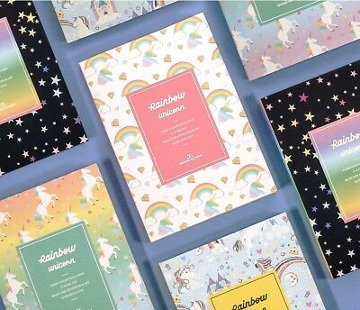 [Rainbow Diary] Undated Daily Weekly Monthly Journal Planner Calendar Note