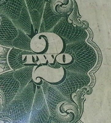 * 1928 D $2 Red Seal Bill ! Ca Block ! Old Us Currency ! F.circ.