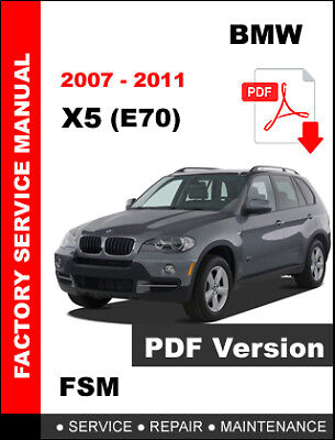factory workshop manual service repair for bmw x5 e70 2007 2008 2009 rh picclick com bmw x5 repair manual bmw e70 repair manual pdf