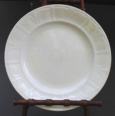 Antique White Ironstone Plate, T & R Boote, Sydenham Shape, Round, 9 1/4""