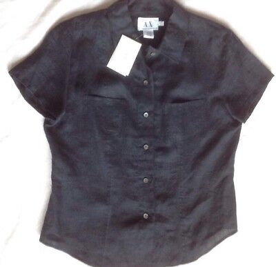 Armani Exchange Womens Linen Blouse Size Large NWT