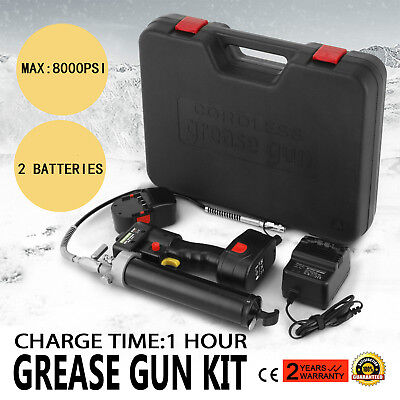 18V Grease Gun Cordless Rechargeable Battery Fast Charger Electric