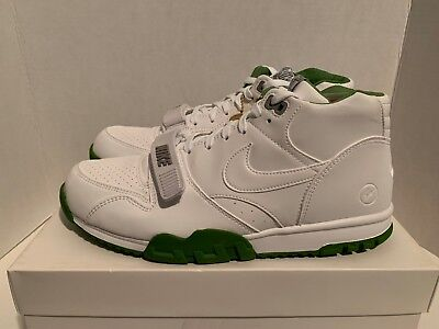 finest selection c0399 96b00 Nike Air Trainer Mid 1 SP Fragment Men s Size 11 White Chlorophyll 806942  113