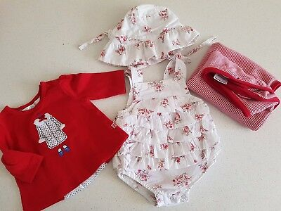 Gorgeous Bebe outfits (size 000) and Purebaby wrap/blanket