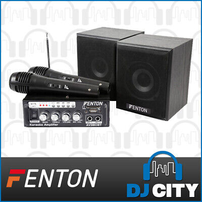 Fenton AV380BT Home Karaoke Party Speaker Set with Bluetooth & 2x Microphone