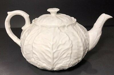 Coalport COUNTRYWARE White Bone China English England Cabbage Leaf Teapot 5 Cup