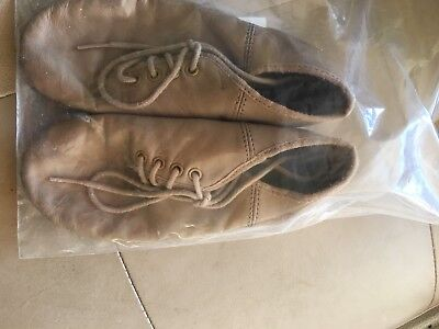 Pre-loved Leather Lace Up Jazz Slicks Shoes Tan