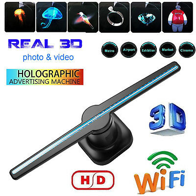 LED 3D Hologram Projector Fan Holographic Display Player Advertising with SD EU