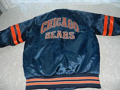 46ae3ec484c873 VINTAGE 90s CHALK LINE CHICAGO BEARS JACKET MEN S SIZE SMALL NFL SATIN