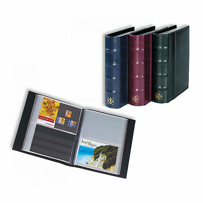 Lighthouse Classic Postcard Album with 50 Clear Pockets - GREEN