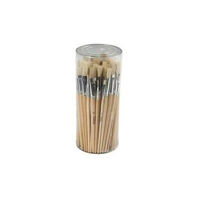 Hog Bristle Brush Set, size 1-10 , 80mixed [HOB-99821]