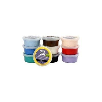 Silk Clay®, asstd. colours, Basic 1, 10x40g [HOB-79143]