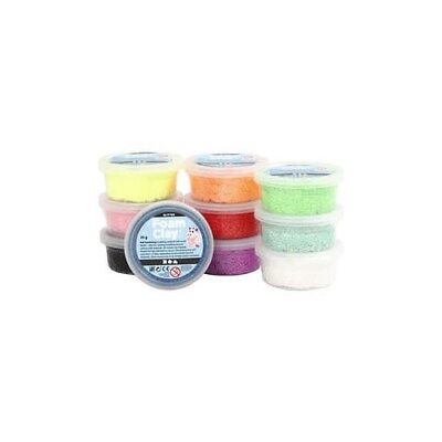 Foam Clay®, asstd colours, glitter, 10x35g [HOB-78890]