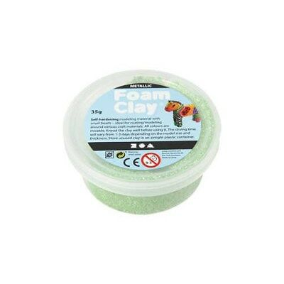 Foam Clay®, green, metallic, 35g [HOB-788790]