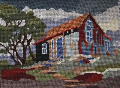 COTTAGE - Completely Finished Handmade TAPESTRY 31cm x 23cm