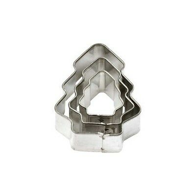 Cookie Cutters, largest size 35x40 mm, Christmas Tree, 3pcs [HOB-78798]