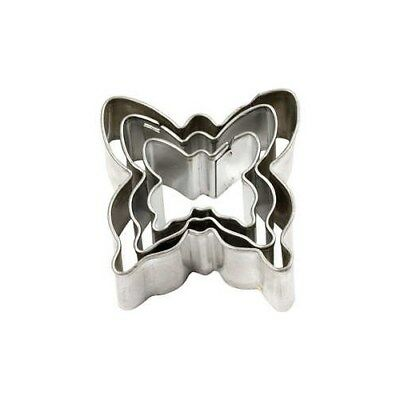 Cookie Cutters, largest size 40x40 mm, Butterfly, 3pcs [HOB-78788]