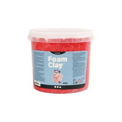 Foam Clay®, red, glitter, 560g [HOB-780870]