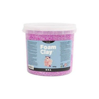 Foam Clay®, purple, glitter, 560g [HOB-780840]